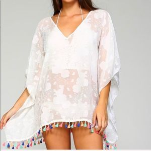 White Sheer Swimsuit Coverup One Size